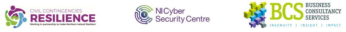 Civil Contingencies NICSC and BCS logos